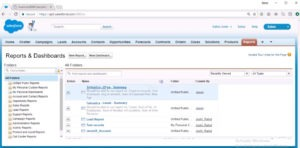 New Reports And Dashboards List